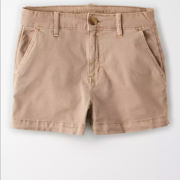 American Eagle Super Stretch Khaki Shorts